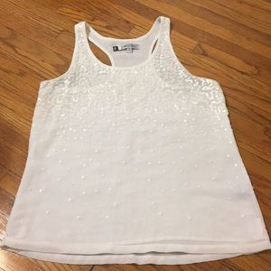 White racerback with sequined detailing